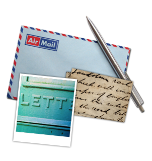 pen letter and letter box