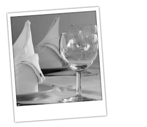wedding reception wine glass and napkin