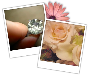wedding diamond, wedding flowers