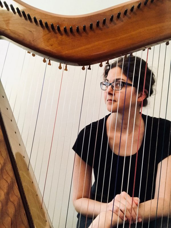 Stephanie Claussen plays harp
